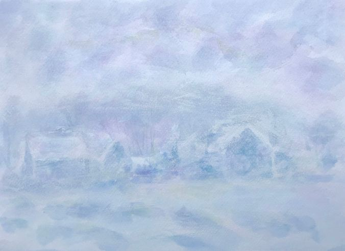 Effete de Neige à Giverny/Claude Monet